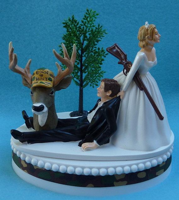 Wedding-Cake-Topper-Deer-Hunter-Hunting-Gun-Themed-Camo1