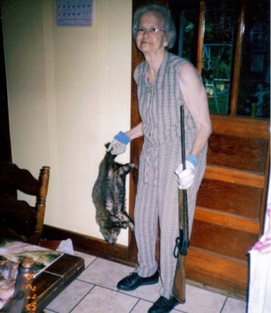 grandma-gun-dead-animal-dinner-awkward-family.jpg