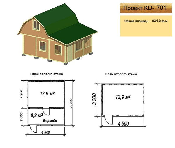домик, дача, 2 этажа: trendyuk