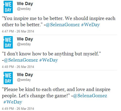we day tweets