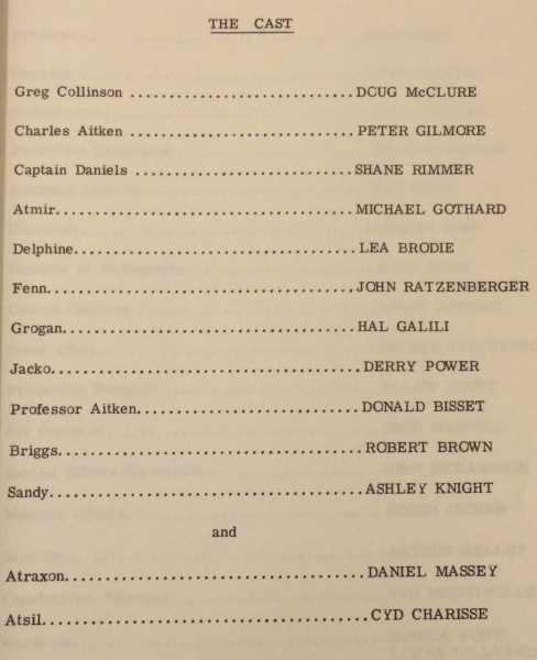 Cast from production notes