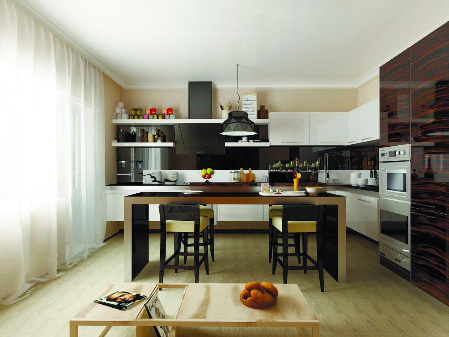 Дизайн кухни 2017-2018 современные идеи 7 кв м с котлом на стене