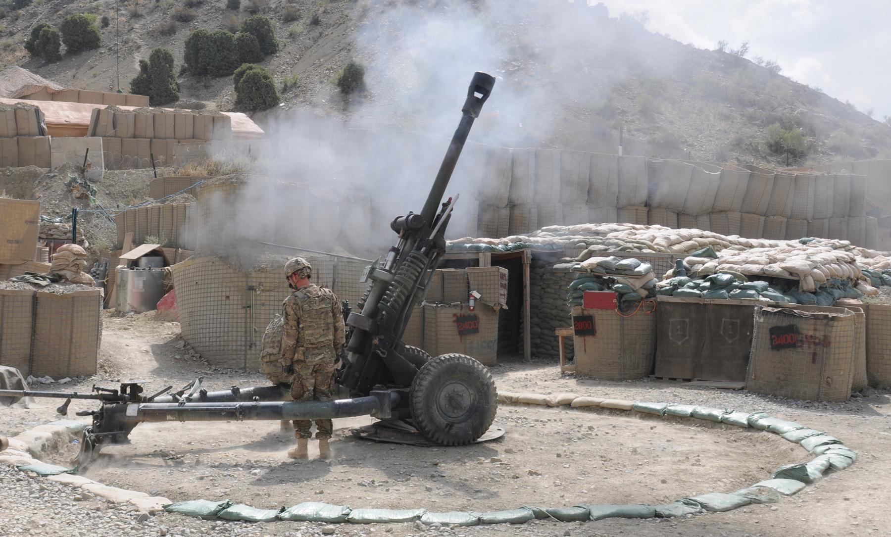 М119 в Афганистане