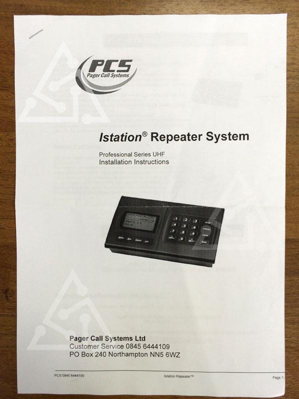 Инструкция по инсталляции пейджинговой станции Instation Repeater System (PCS Pager Call System)