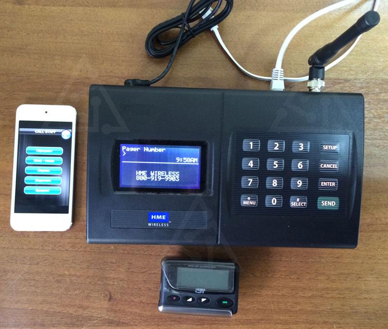 Станция Instation Repeater System (PCS Pager Call System) использует старые и знакомые всем пейджеры