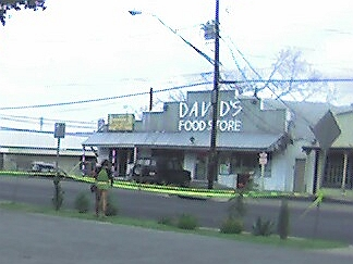 Davids Food Store with Leslie going