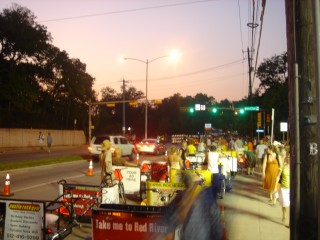 Pedicabs on Barton Springs Road
