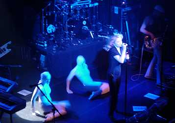 Allison Goldfrapp and the Fetish dancers