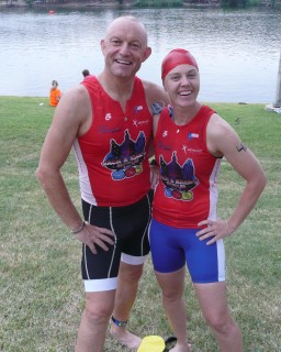 Lisa Buckley and I before the race