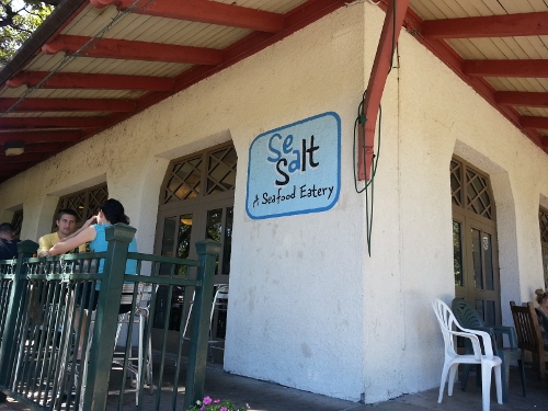 Sea Salt, a lovely (and very busy) restaurant along our bike ride.