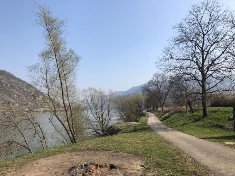 Велодорожка вдоль Дуная