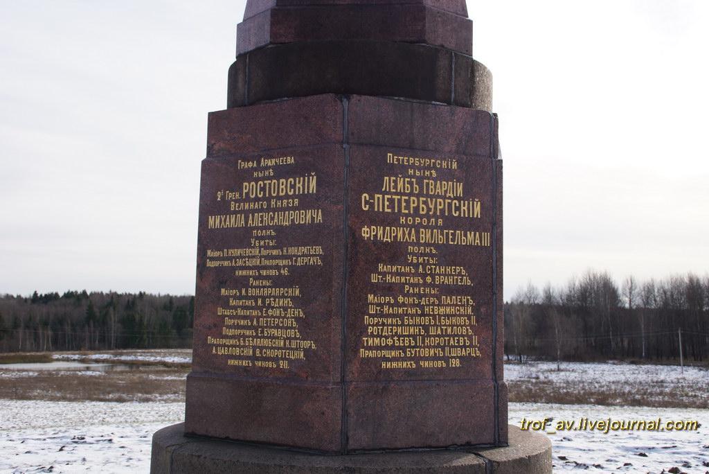 Памятник 1-й гренадерской дивизии генерала Строганова