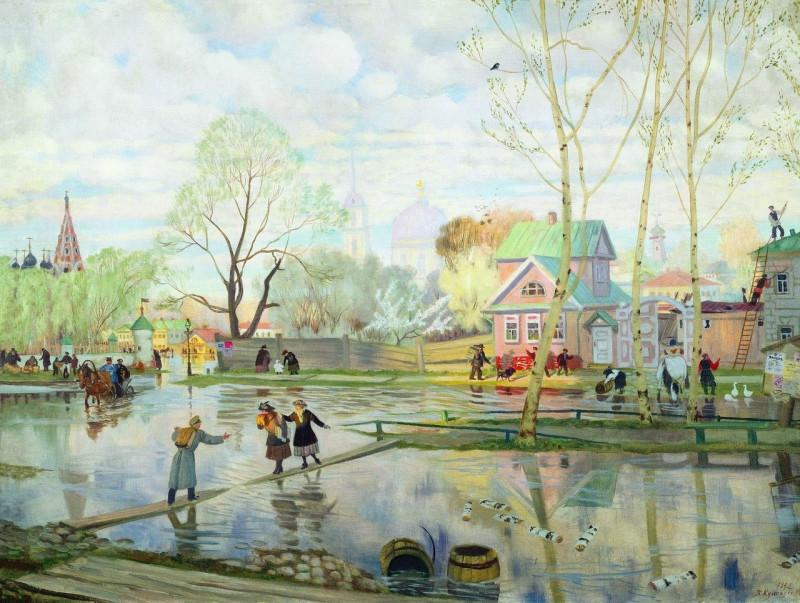 Кустодиев Весна