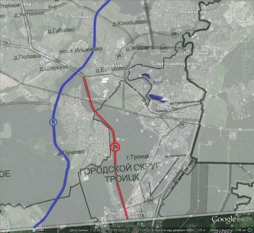цкад киевское шоссе схема