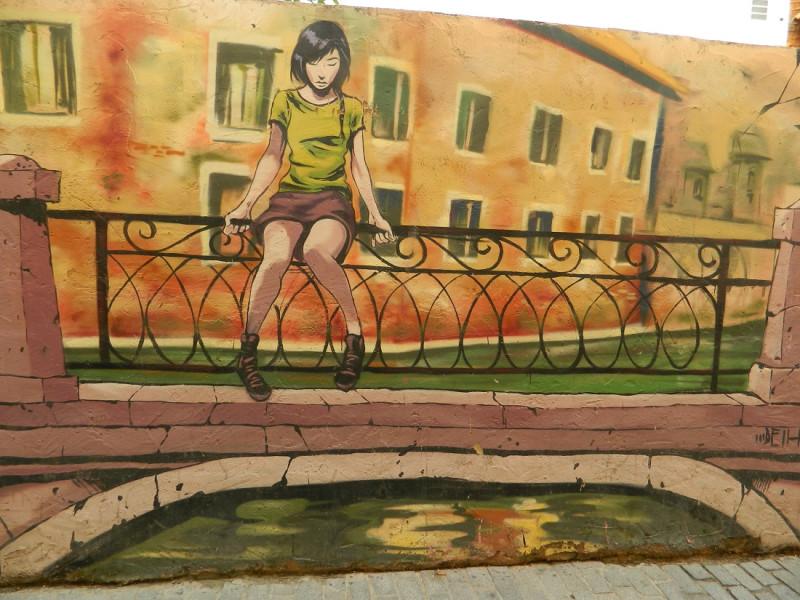 Одна из картин комплекса граффити на Calle de Moret