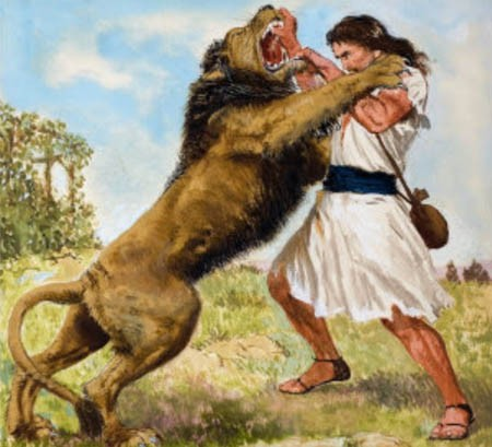 david-shepherd-fighting-lion