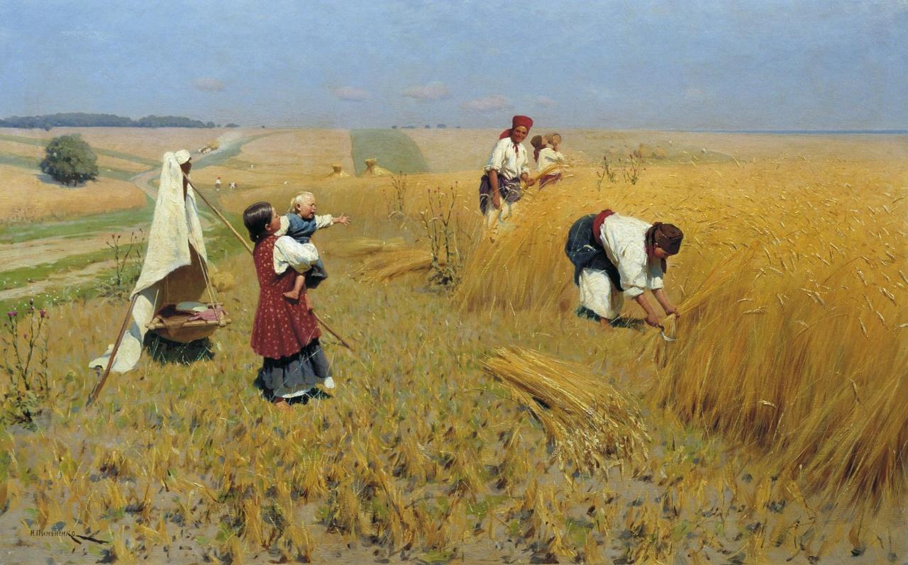 Жатва на Украине 1896