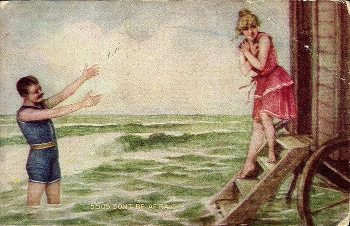 20989523_Dont_Be_Afraid__Man_and_women_in_bathing_suits_with_bathing_machine_c