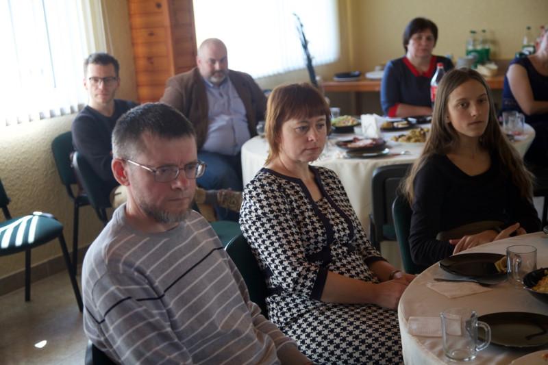 Слева: Писатель и поэт Андрусь Дылюк со своей супругой Валентиной