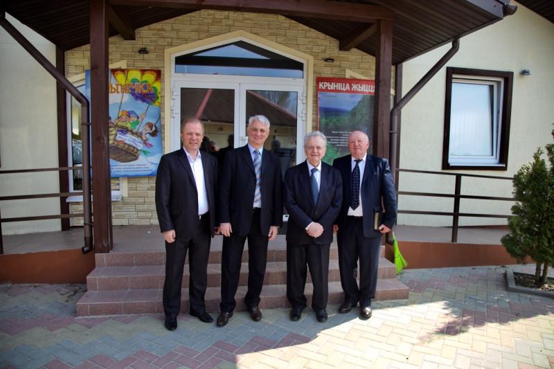 Слева направо: В.Трубчик, Л.Михович, А.Фирисюк, Н.Синковец