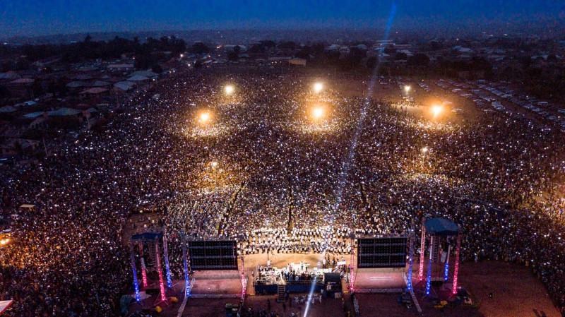 """Огбомошо, Нигерия. 22- 25 марта 2018. Во время евангелизации """"Христос для всех народов"""", проведенной пятидесятниками."""