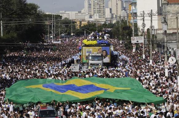 """""""Марш для Иисуса"""" в г. Сан-Паулу"""