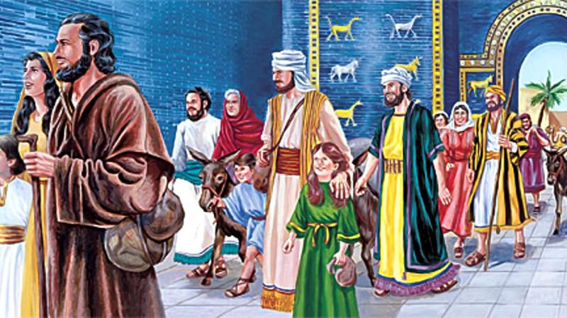 Евреи выходят из вавилонского плена на родину