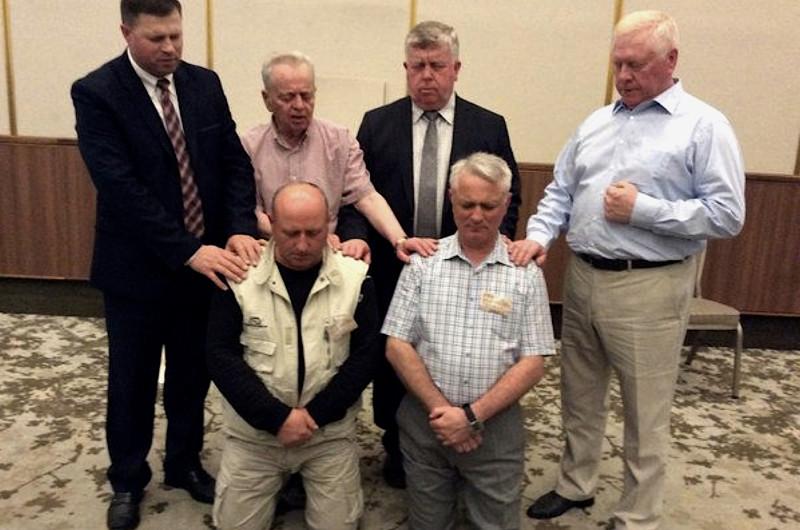 Благословение на служение в Евро-Азиаткой федерации союзов ЕХБ служителей на 57-ом съезде в Израиле