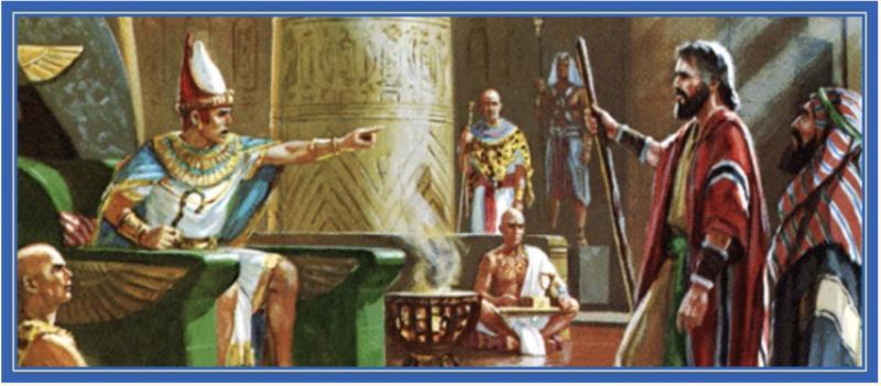Моисей и Аарон беседуют с фараоном