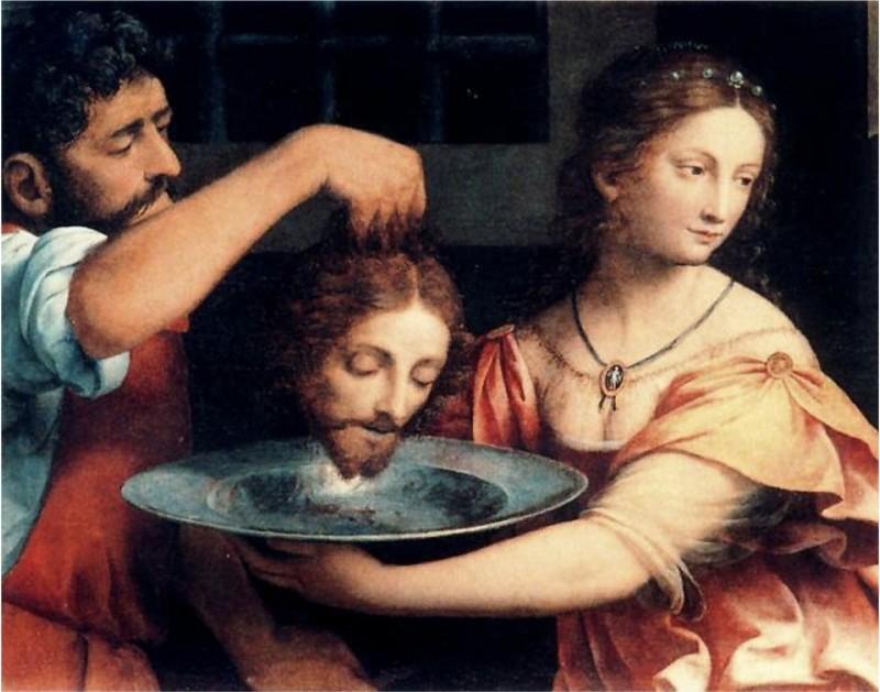 Бернардино Луини. Саломея с головой Иоанна Крестителя