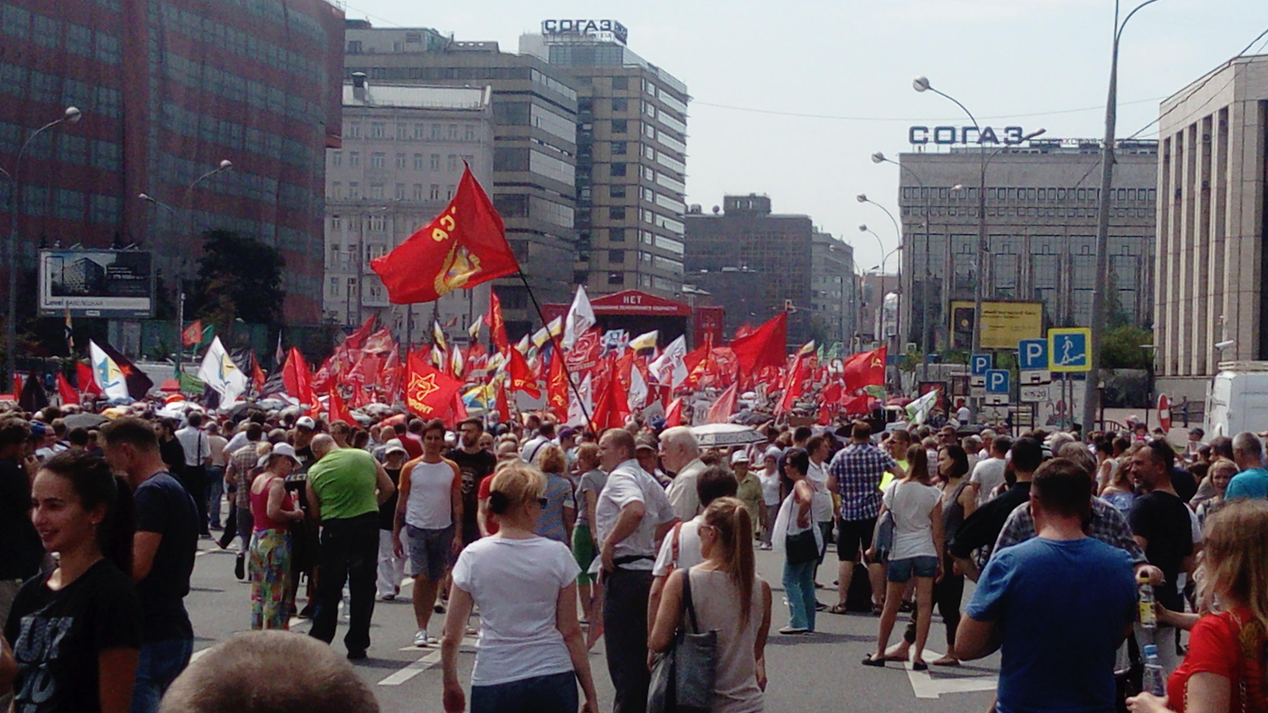 Протесты в стране потихоньку нарастают.