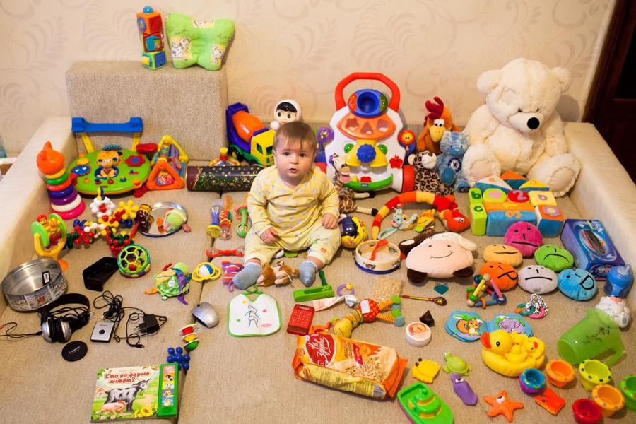 7 месяцев ребенку игрушки своими руками