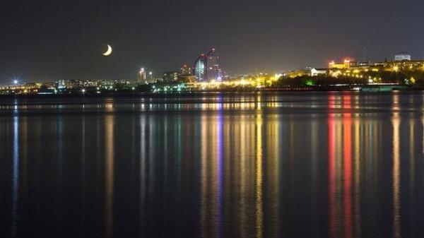 ночной волгоград вид с реки