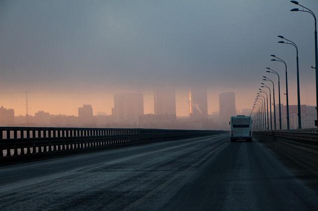 утро туман