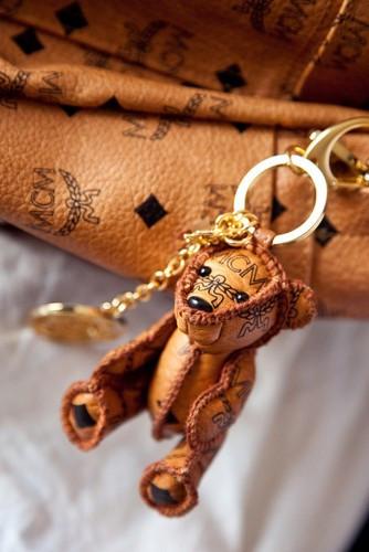 Mcm Cognac Visetos Teddy Bear Key Ring Holder I Youkoso♔