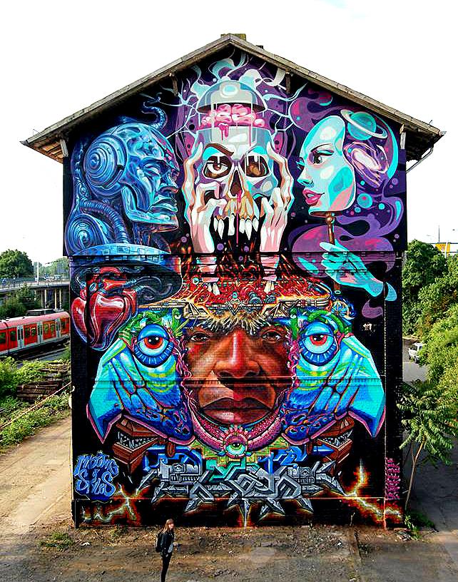 Yu-baba & Key Detail & WD street art & DMJC Crew