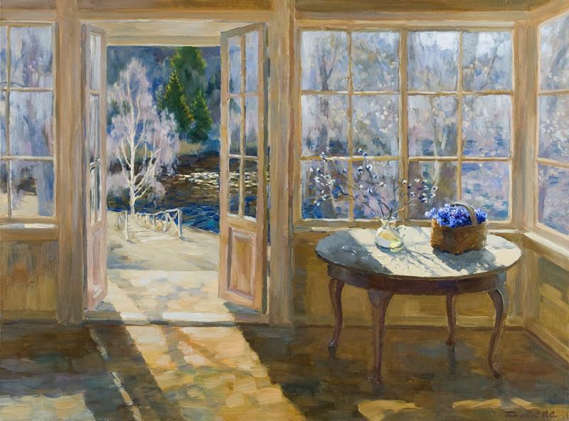 Весеннее окно. Автор - О. Потапов
