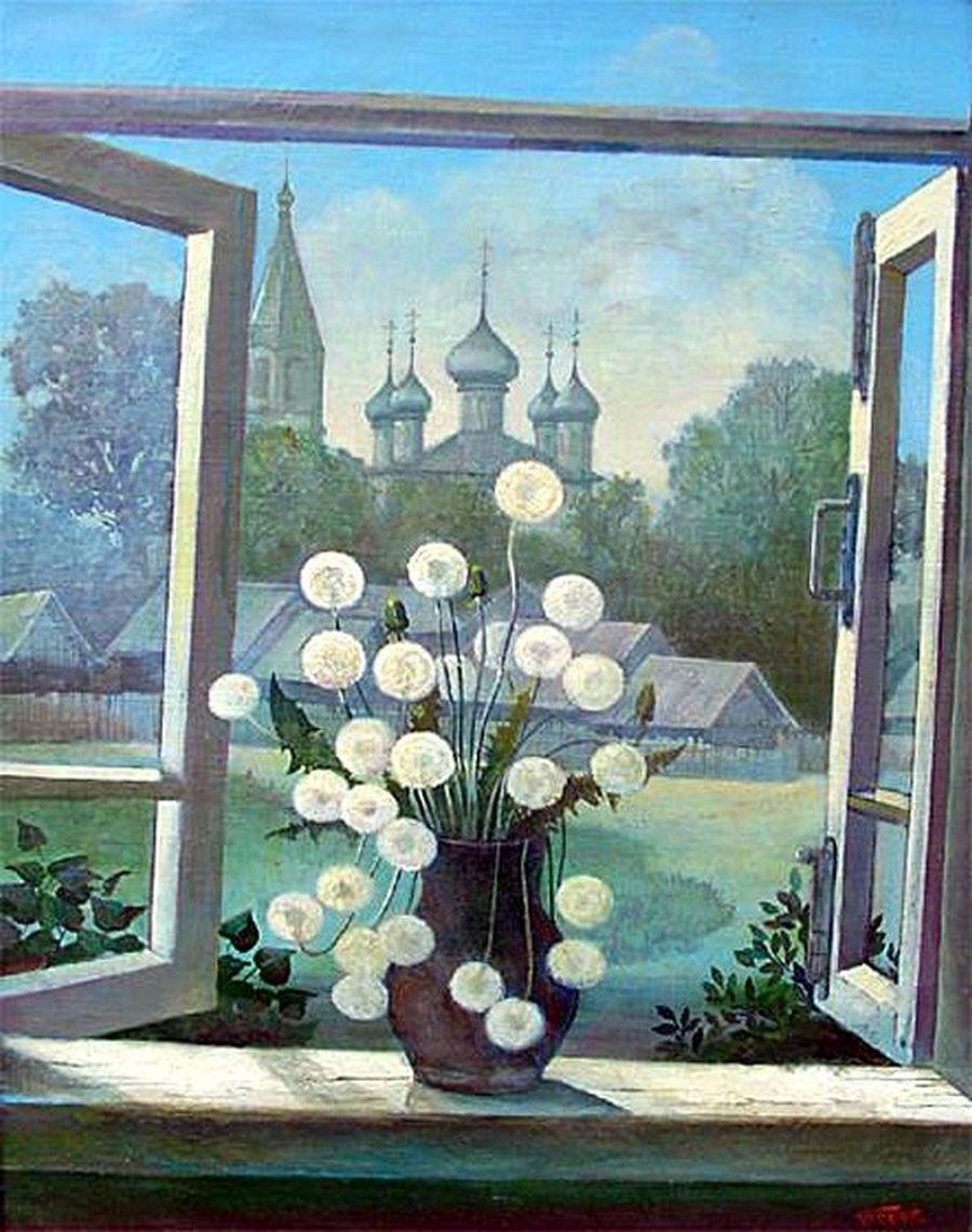 Вид из окна весной. Автор - В.Ф. Белан