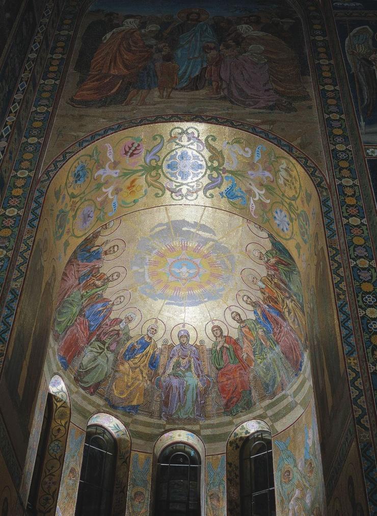 Сошествие Святого Духа на апостолов. В. В. Беляев. 1887–1900 гг. Исаакиевский собор, Санкт-Петербург