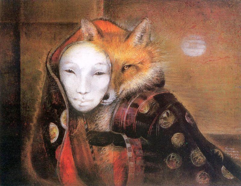 Кицунэ (загадочные лисы-оборотни японского фольклора)