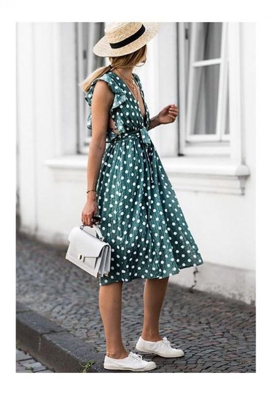 Платье в горошек. Туфли Шанель. Мысли затем.