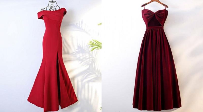 Очень красивые платье в красных оттенках