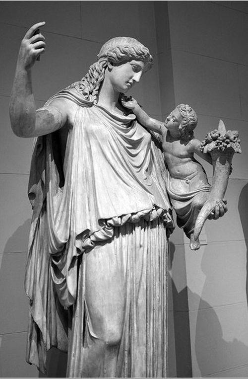 Богиня Эйрена с Плутосом