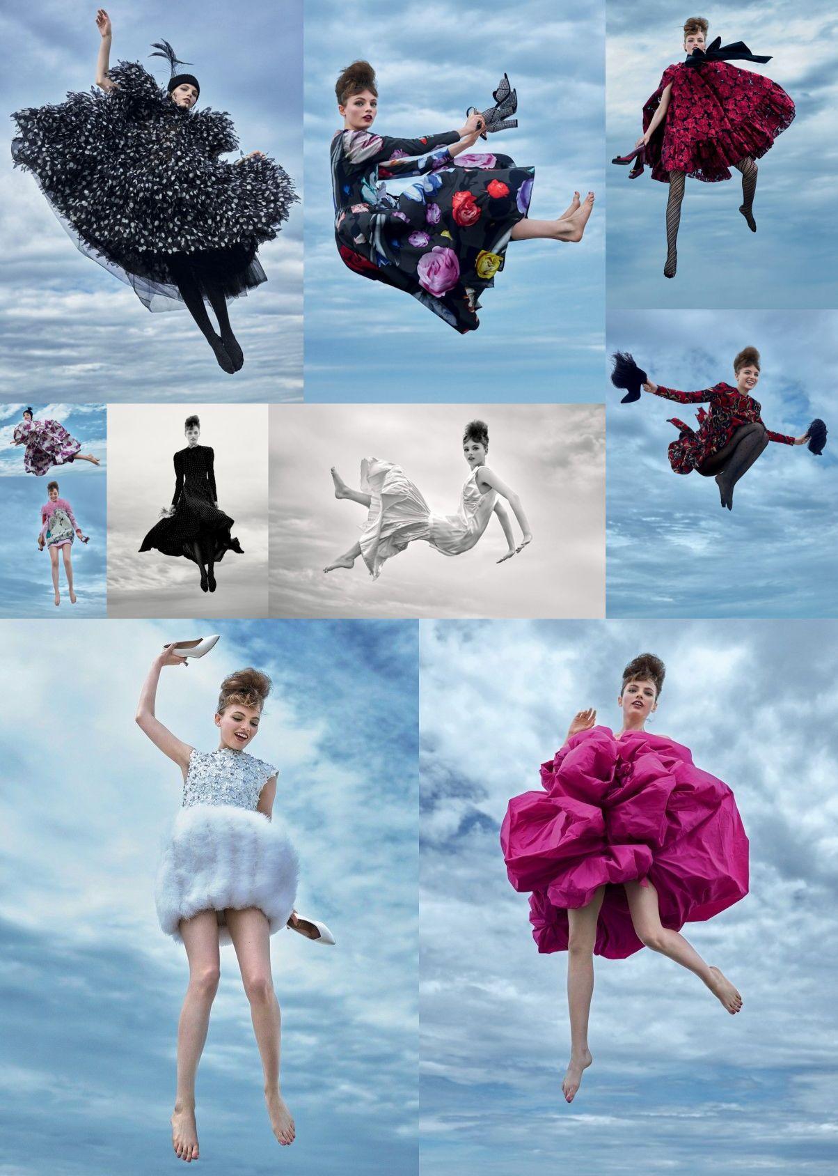 Fran Summers for Vogue UK by Arthur Elgort
