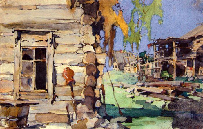 Улица в деревне Художник Н.И. Фешин (1881-1955)