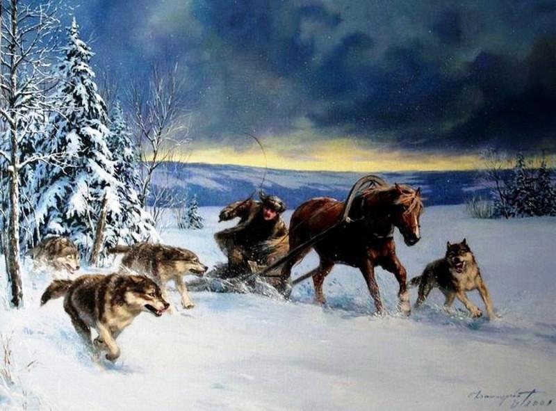 Волки Художник Т. Данчурова