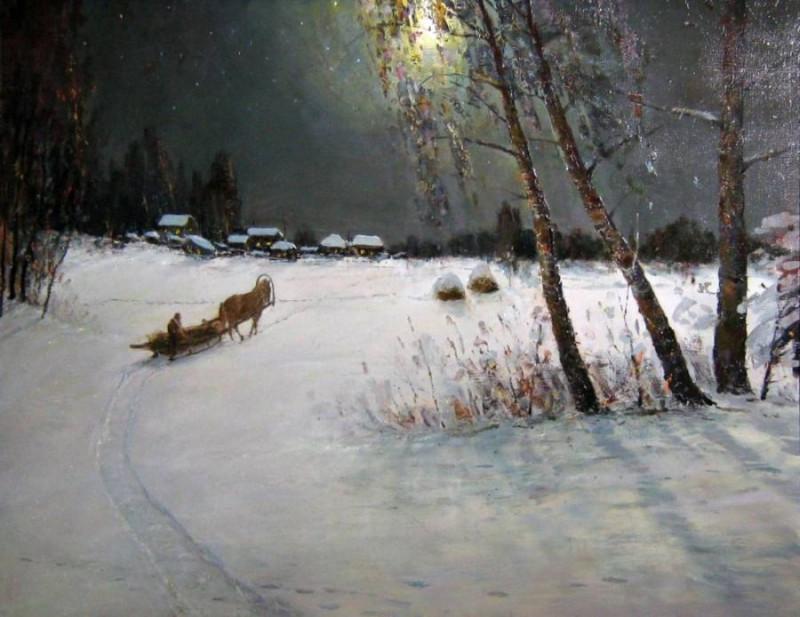 Зимняя дорога Художник С. Корытов