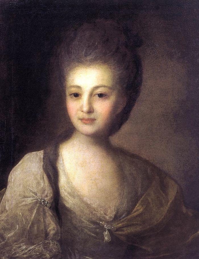 Портрет Александры Петровны Струйской. Федор Степанович Рокотов, 1772.