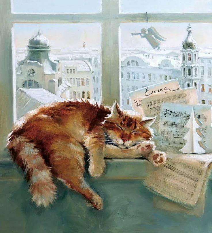 Ночь и утро художник Мария Павлова