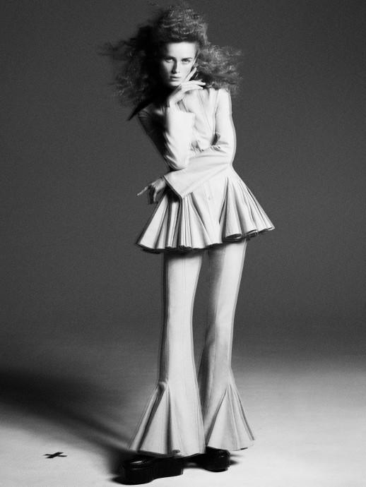 Rianne van Rompaey for W Magazine by Karim Sadli